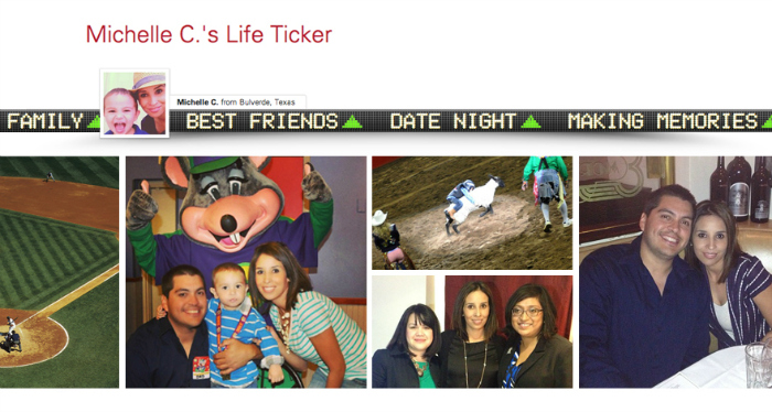 My Life Ticker by Vanguard