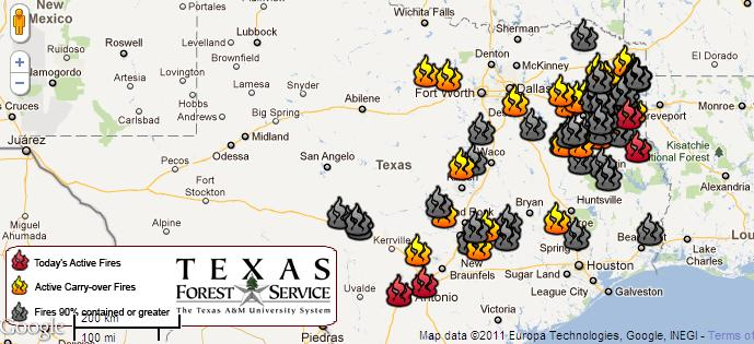 Texas Forest Service Fires
