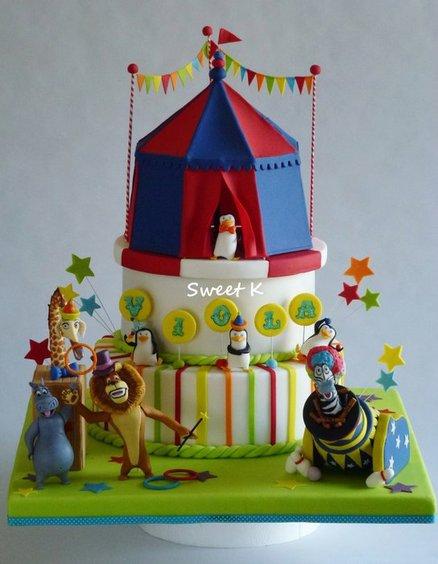 madagascar 3 party ideas cake