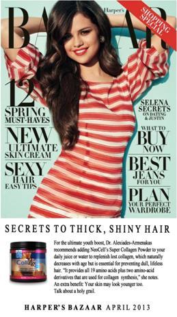 Super Collagen featured in Harpers Bazaar