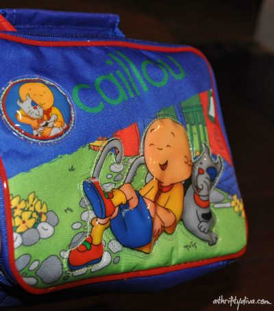 Caillou lunch box