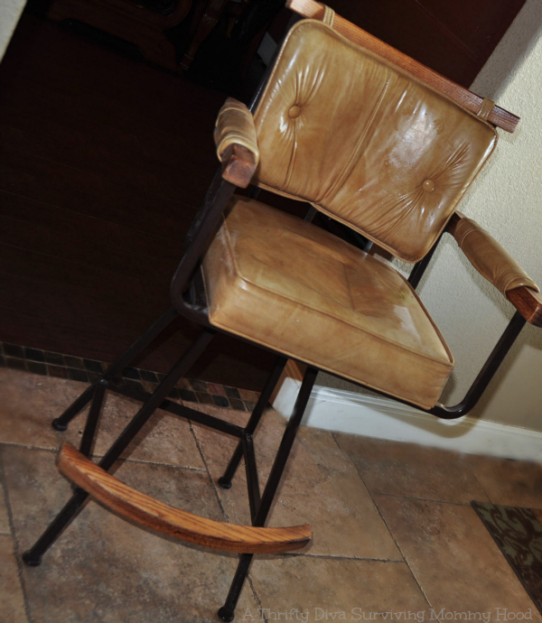 glue gun chair redo
