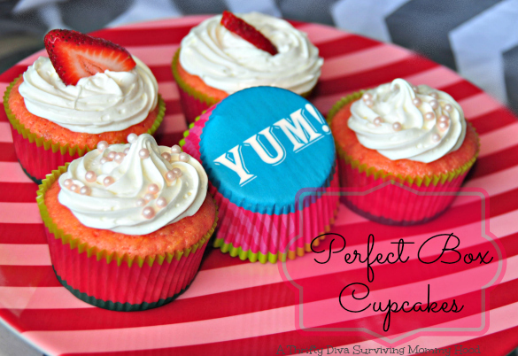 Strawberry Cupcakes Using Box Mix
