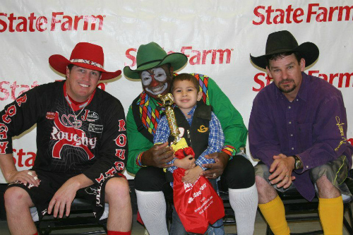 Brody with the San Antonio Rodeo Clowns