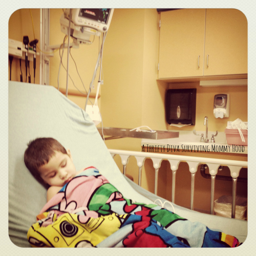 In the hospital after the meds not stronger