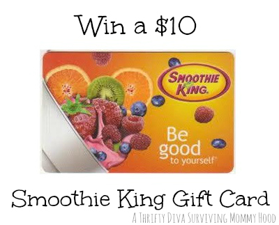 smoothie king $10 gift card giveaway