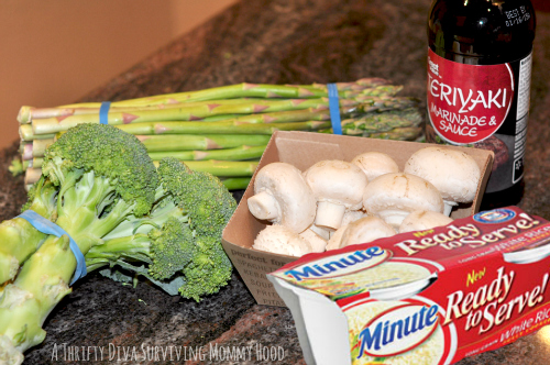 Rice Vegetable Recipe ingredients  #LoveEveryMinute