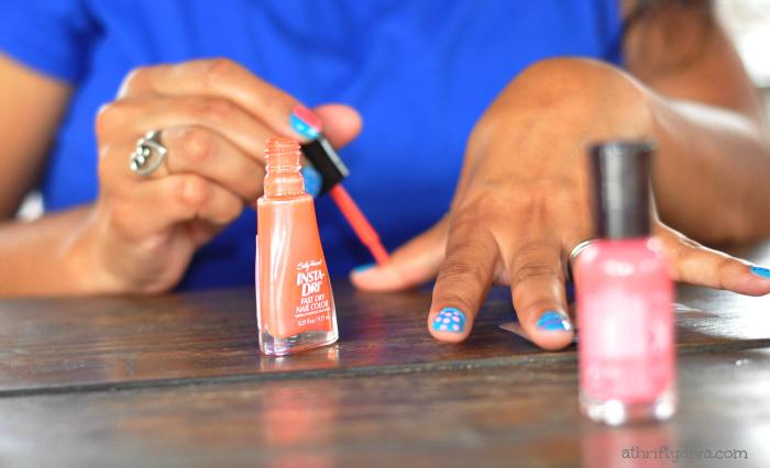 Hello spring nails party a thrifty diva sally hansen i heart nail art walgreens iheartmynailart hello spring nails party prinsesfo Images