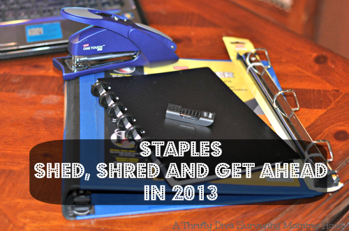 Staples Shed, Shred and Get Ahead in 2013