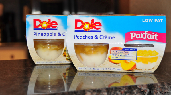 Dole Fruit Parfait cups review on a thirfty diva surviving mommy hood