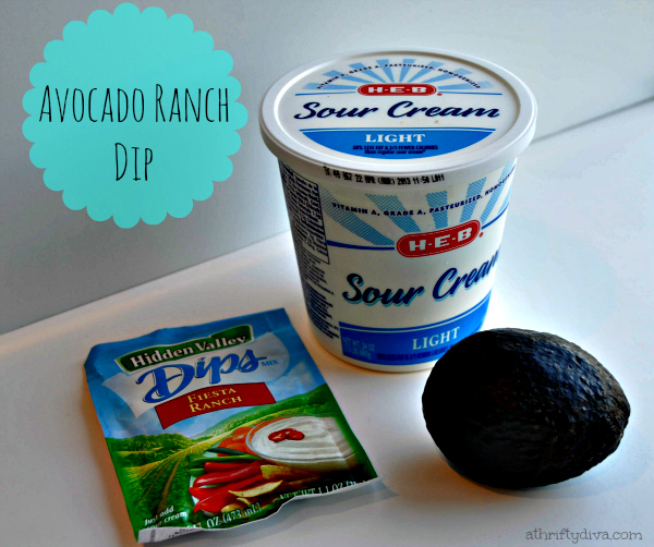 avocado ranch dip ingredients to go with Homestyle Chicken Fries