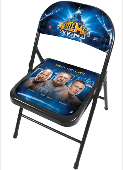 chair WrestleMania Merchandise