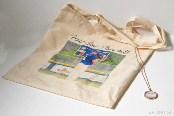 Something for Mother's Day with Zazzle custom tote bag and necklace