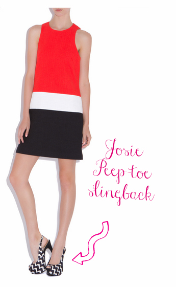 Shoedazzle Josie slingback peep-toe cool shoes