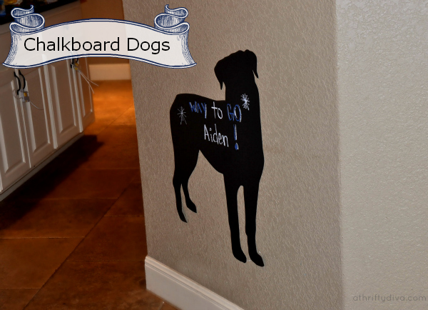 Chalkboard Dogs Silhouettes Rottweiler