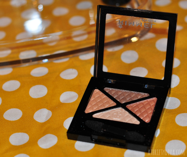 Fresh Faced Nude Summer Makeup Trend Rimmel quad eye shadow #RimmelRealBeauty #shop #cbias