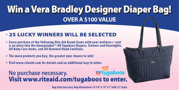 Vera Bradley Tugaboos sweepstakes Win a vera bradley designer diaper