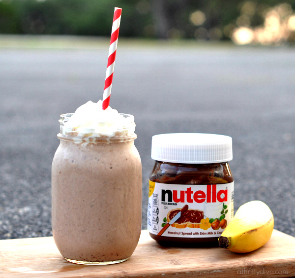 Healthy Banana Nutella Smoothie Recipe