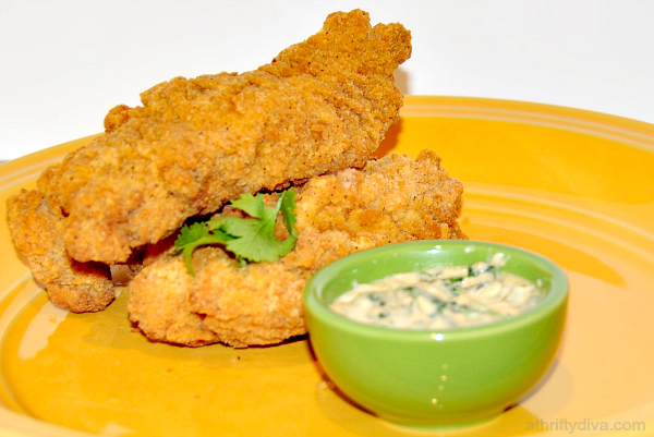 Tyson Crispy Chicken Strips with Zesty Spinach Chili Cheese Dip Recipe  #shop #SamsDemos #cbias