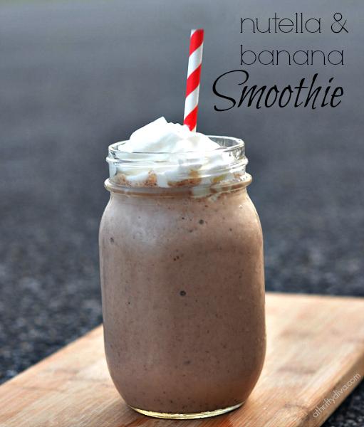 Healthy Banana Nutella Smoothie Recipe