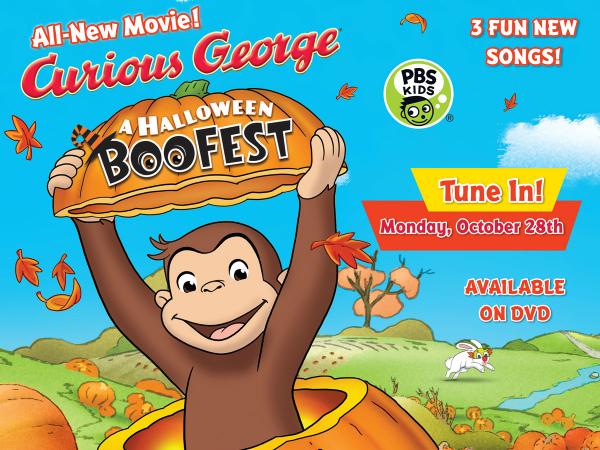Curious George Halloween Boo Fest & Printables #BooFestPBS