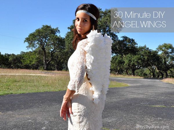 Budget Friendly DIY Angel Wings Costume #CottonelleTarget #PMedia #ad