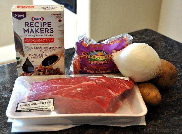 New England Pot Roast Meal Recipe Slow Cooker #kraftrecipemakers ingredients  #shop #cbias