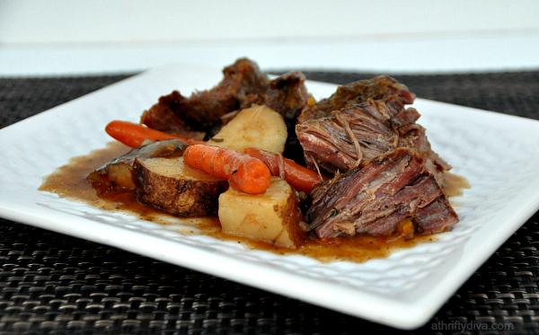 New England Pot Roast Meal Recipe Slow Cooker #kraftrecipemakers  #shop #cbias