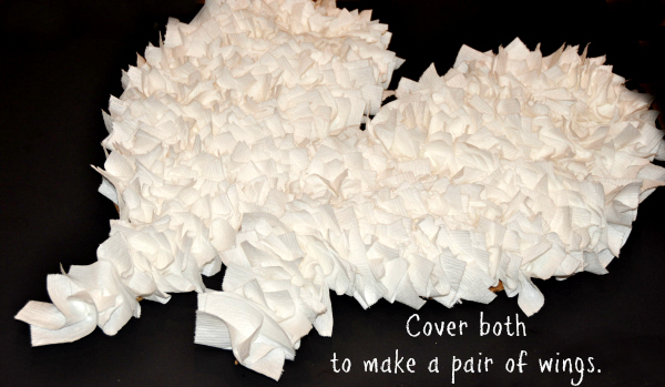 Budget Friendly DIY Angel Wings Costume #CottonelleTarget #PMedia #ad step 6