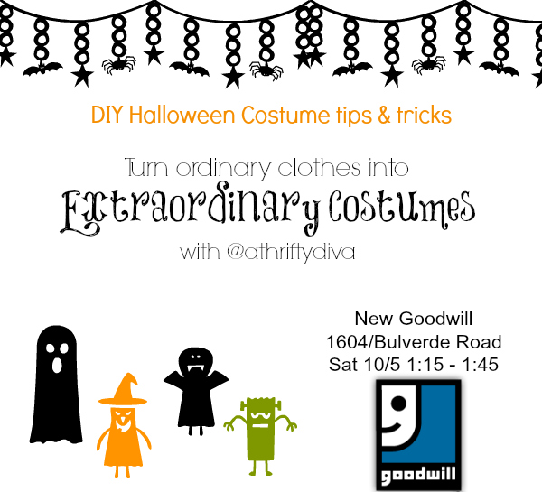 DIY Halloween Tips and Tricks to Extraordinary Costumes at GoodWill  goodwill san antonio Bulverde Location workshop