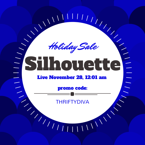 Silhouette Black Friday Cameo and Portrait Holiday Sales Live