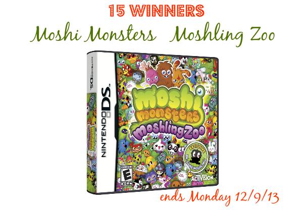 Moshi Monsters Moshling Zoo Nintendo DS {15 Winners Giveaway}