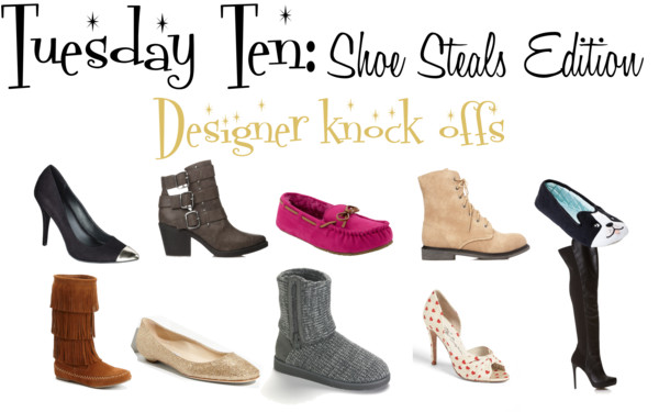 Tuesday Ten: Shoe Steals Edition