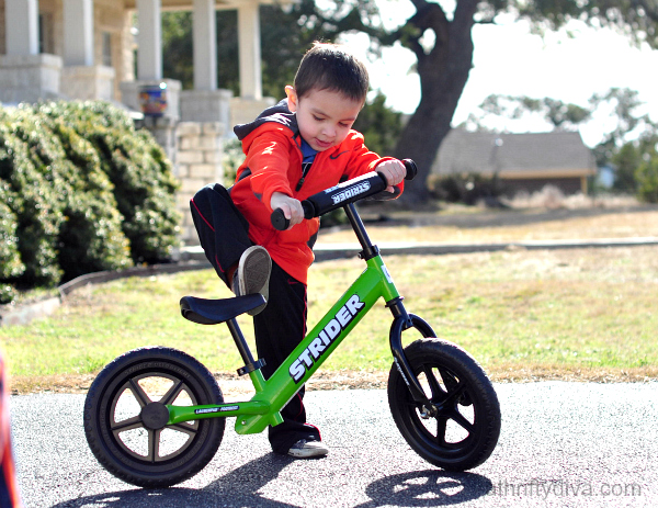 The Two Wheeling Toddler on a Strider Bike