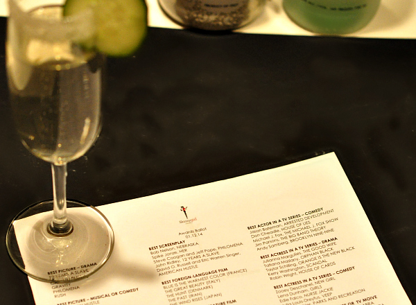 Golden Globes viewing party with Skinnygirl Cocktails #LetsDrinkToThat