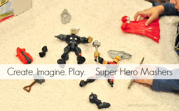 Pretend, Inspire, and Tempt the Imagination with Hasbro Super Hero Mashers #MiMashup