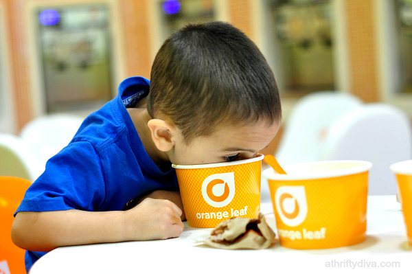 Happiness is... Orange Leaf Frozen Yogurt #ghirardelli #froyo