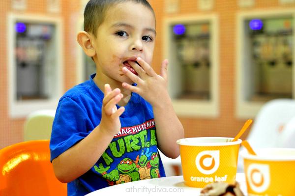 Happiness is... Orange Leaf  Frozen Yogurt #ghirardelli #froyo
