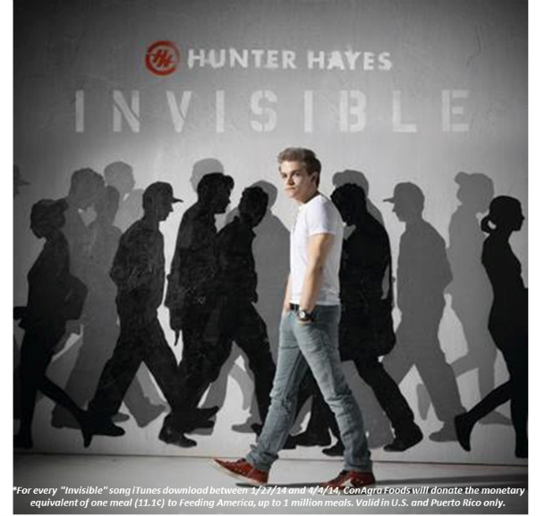 hunter hayes single Ask Hunter Hayes and Give to Child Hunger Ends Here #childhunger