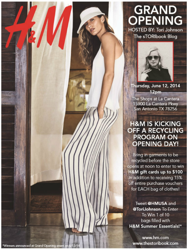 Grand Opening Flyer H&M San Antonio Grand Opening at La Cantera