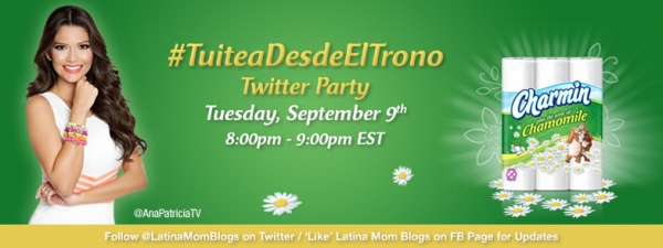 Charmin Latino Twitter Party September 9 8PM ET #TuiteaDesdeElTrono