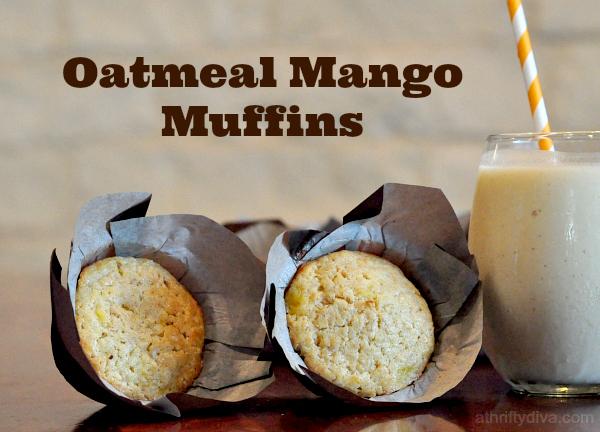 oatmeal mango muffins