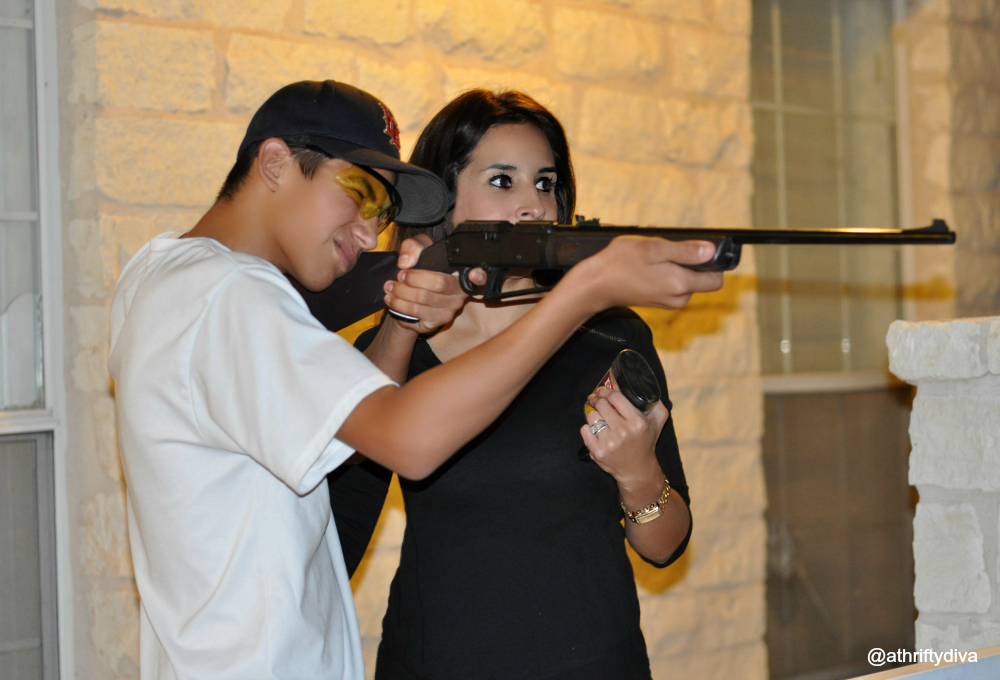 Practice shooting with Daisy bb gun gifts for boys make cool Christmas presents. #ItsADaisy #CollectiveBias