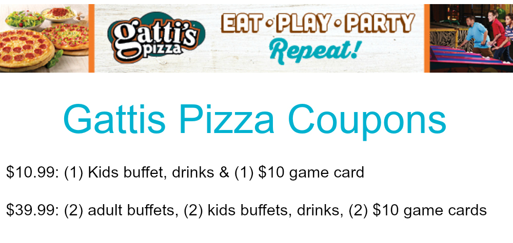 gattis pizza coupons