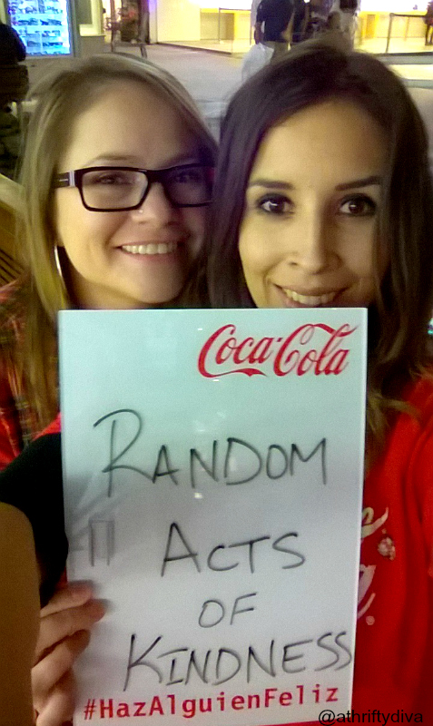 Random act of kindness with coca cola and #hazalguiefeliz