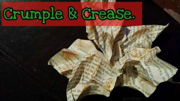 diy book poinsettias  crumple and crease