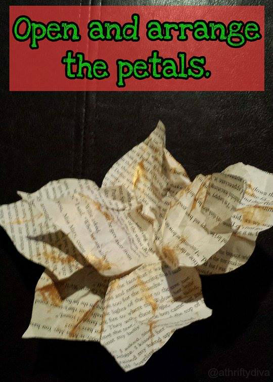 how diy book poinsettias making petals
