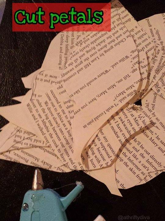 how to diy book poinsettias