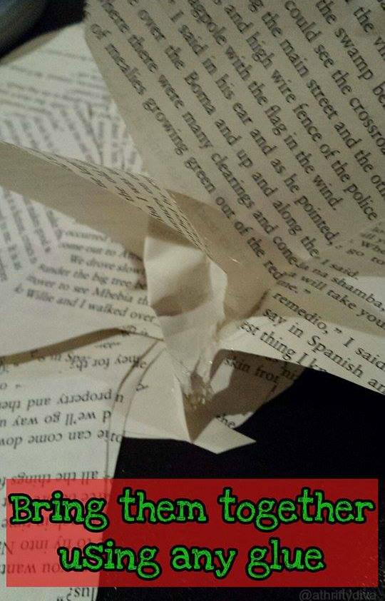 steps how to diy book poinsettias