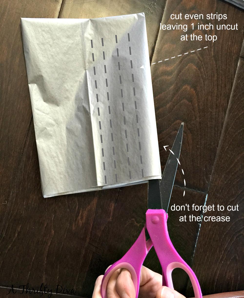 cut strips tassel garland